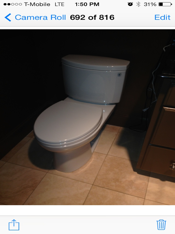Farmers Branch, TX - Reset toilet with all new connection