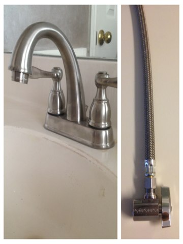 Lewisville, TX - Installing new Delta lavatory faucet with new Brass Craft 1/4 turn emergency water shutoff valves.