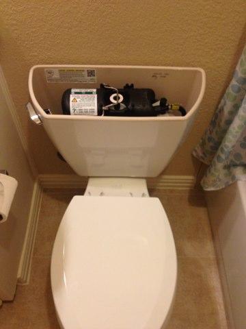 Installed 3 new Kohler pressure-assist toilets with new shutoff valves.