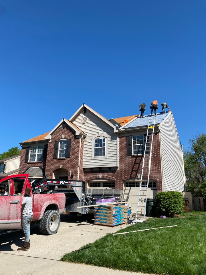 Cincinnati, OH - New dimensional shingles going up in Forestville OH.