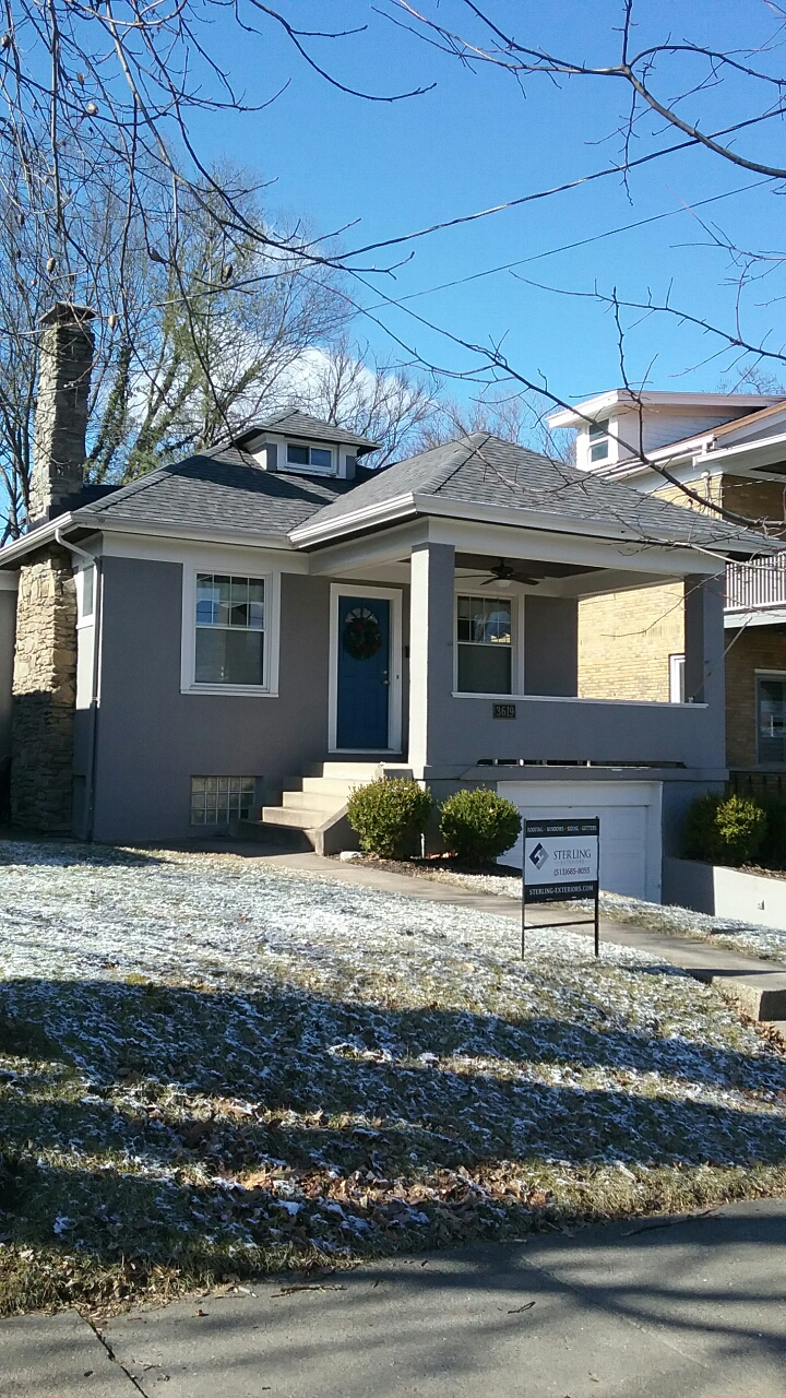 Cincinnati, OH - Sterling installed a new roof in Hyde park