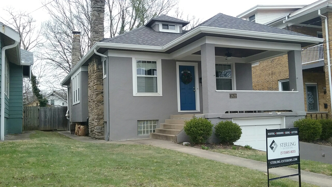 Cincinnati, OH - Sterling Exteriors installed a new roof, gutters, and soffit on this beautiful home in Hyde Park