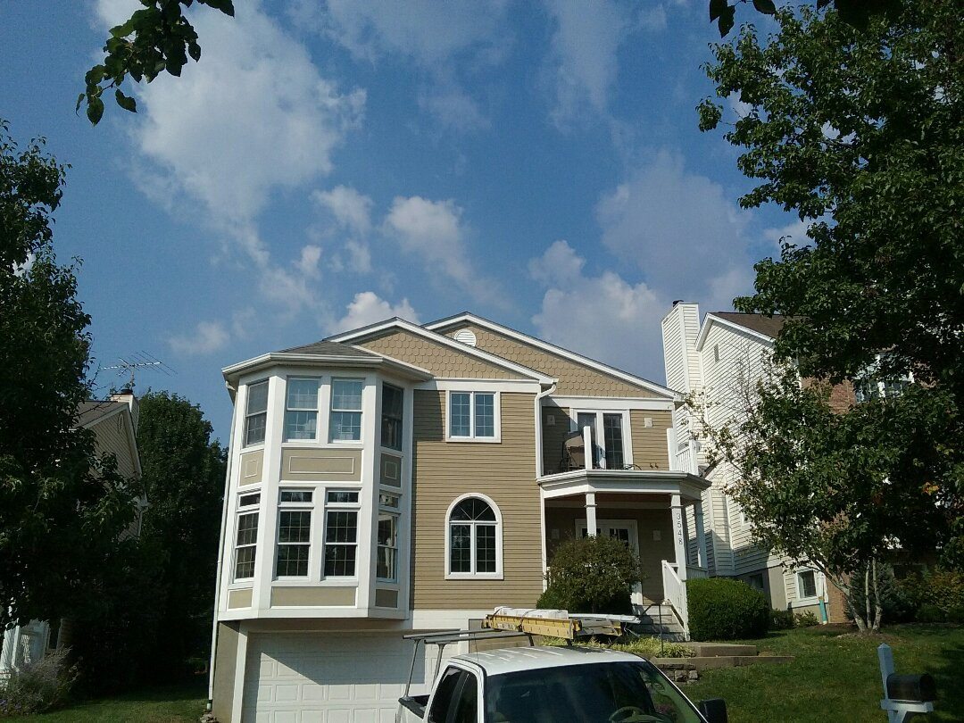 Cincinnati, OH - New Hardie siding and trim install in hyde park by Sterling Exteriors