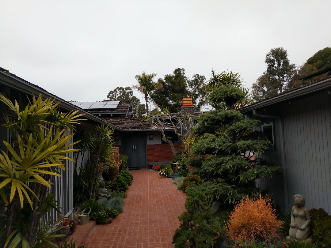 San Diego, CA - Custom home Reroof in La Jolla. Monier Cedarlite tile.