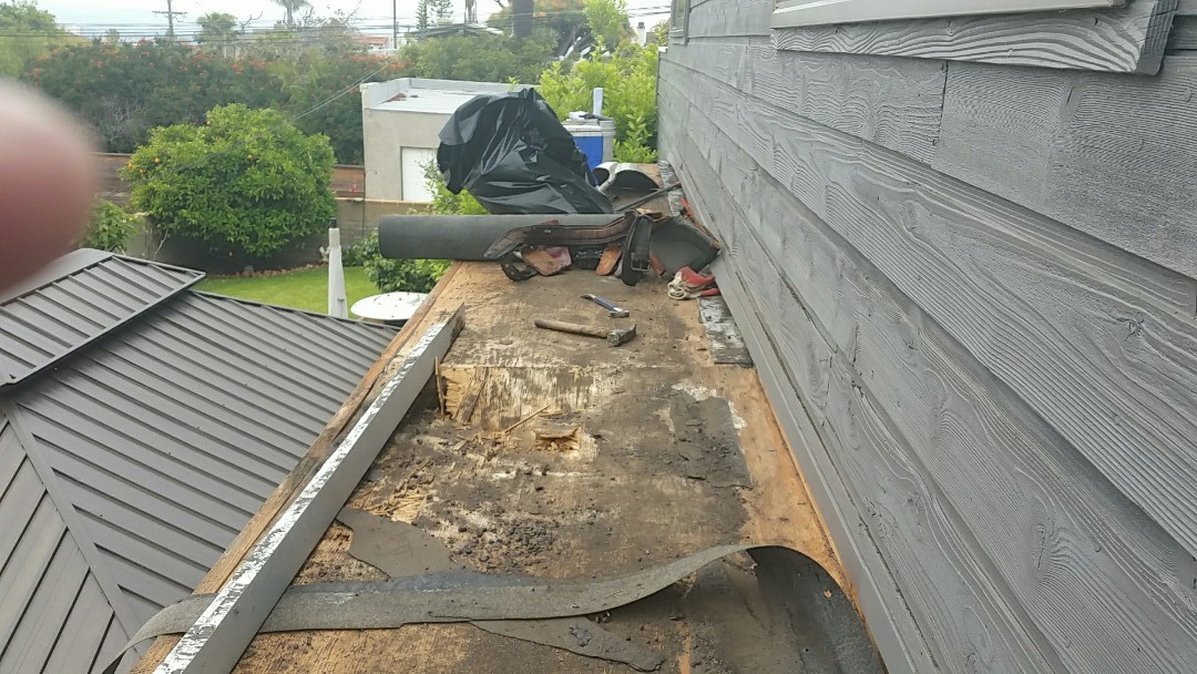 San Diego, CA - Polyglass 3/ply APP roofing.