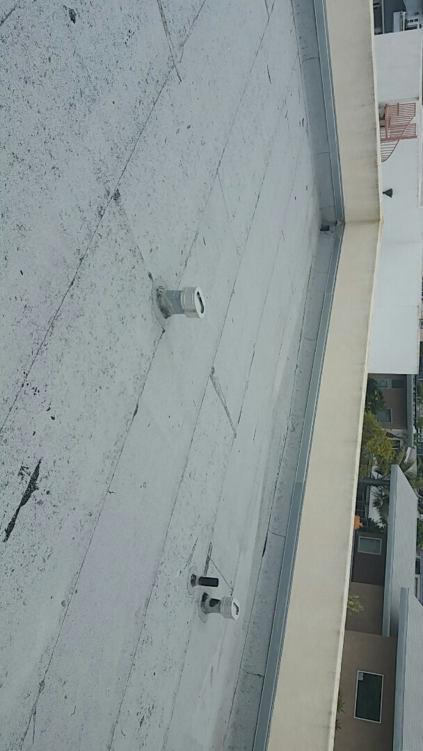 San Diego, CA - Roof maintenance.
