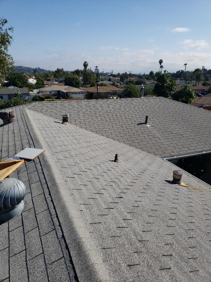 La Mesa, CA - Owen's Corning re roof