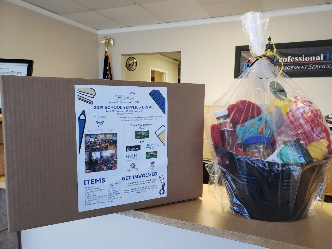 San Diego, CA - Rose at PHOAC just loved the Summer BBQ Basket! Awesome clients of ours! Thank you for participating in the School Supply drive for CAI too!