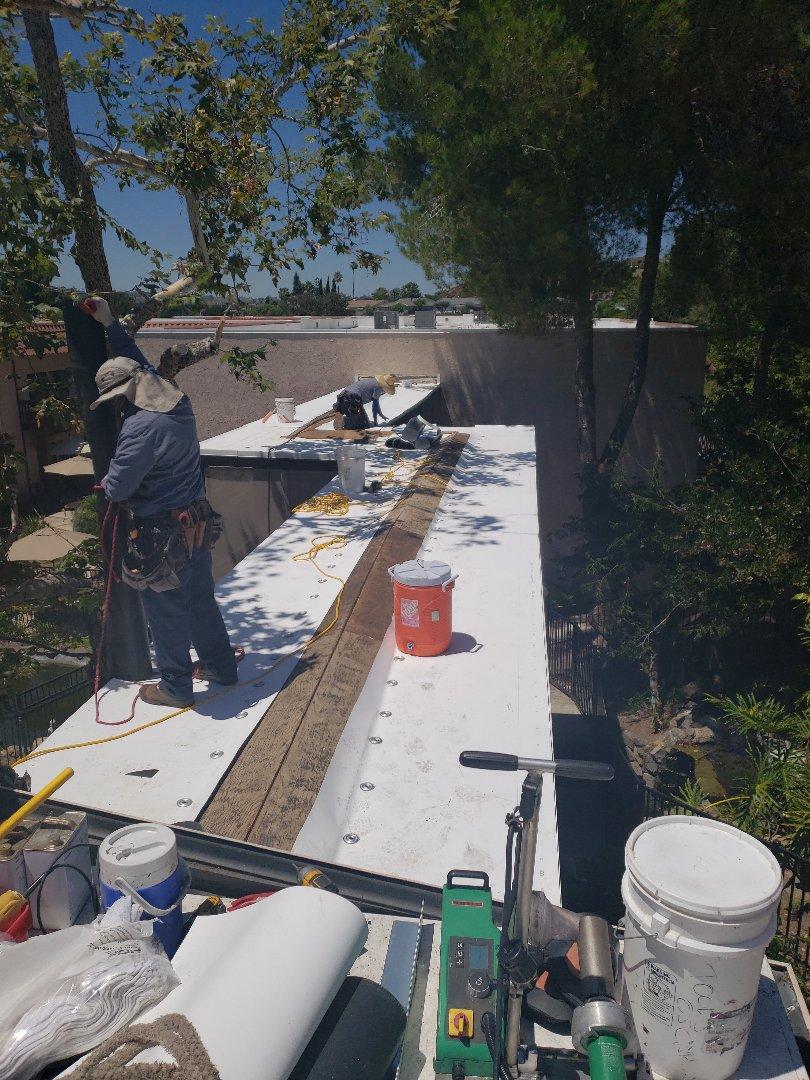 La Mesa, CA - Installing TPO