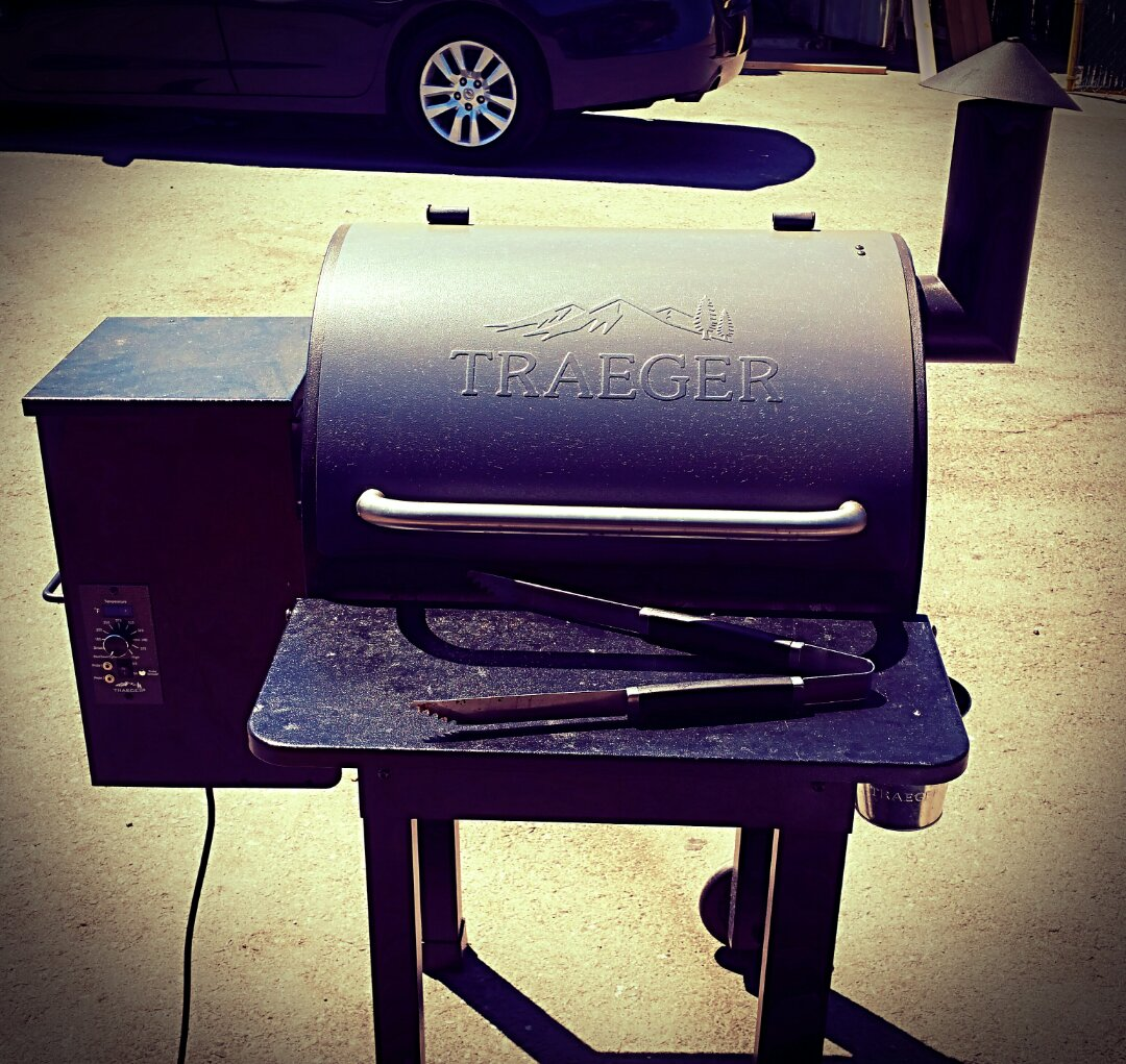 El Cajon, CA - Are you keeping up with the Jones'? Friday Traeger Grill Day at Sully Jones Roofing...mmmm...good! Thank you Jeff & Ed! Disabled...food coma!