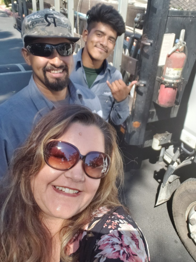 San Diego, CA - Bringing snacks and cold drinks to my guys! They're working hard on 121 bldgs-gutter cleaning and inspections for La Jolla Village Southpointe!