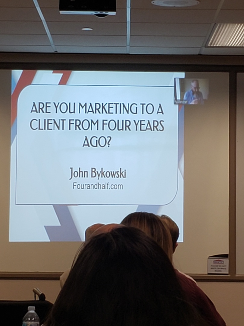 San Diego, CA - Learning about effective Marketing with  John Bykowski for our Roofing Company at our  monthly NARPM meeting