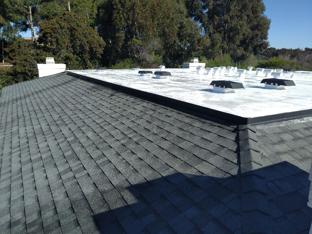 San Diego, CA - Carlisle tpo and 30 year Owens Corning shingles