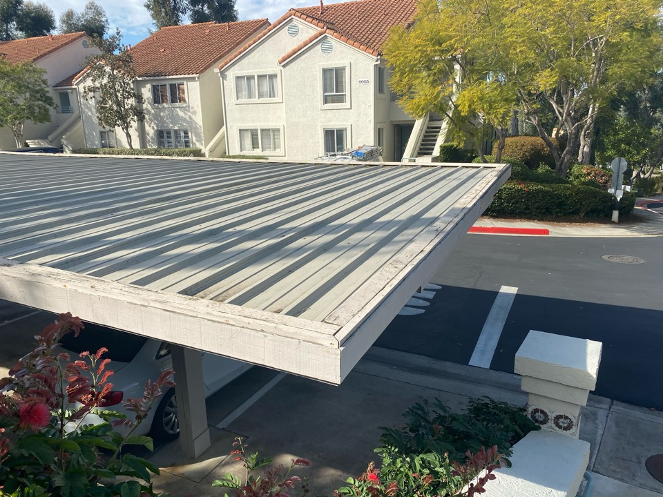 Santee, CA - Inspection for carport cleaning