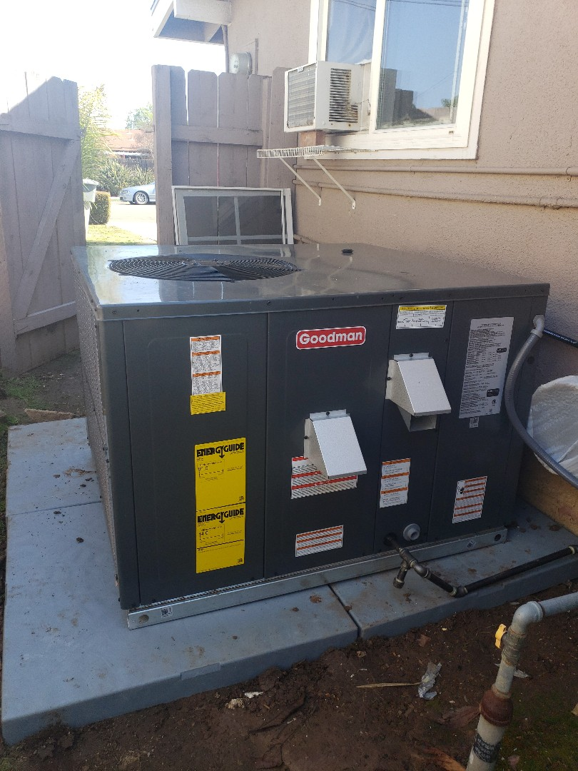 Poway, CA - Installing a package unit. (Heating & Air-conditioning)