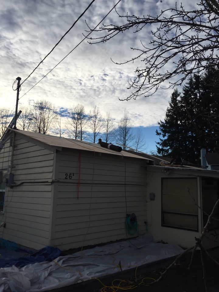 Everett, WA - Installing a new roof and adding overhangs to a home in Everett.