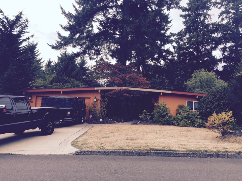 Bellevue, WA - Another successful low slope re roof in Bellevue ... Repaired all dry rot and installed new 60ml TPO