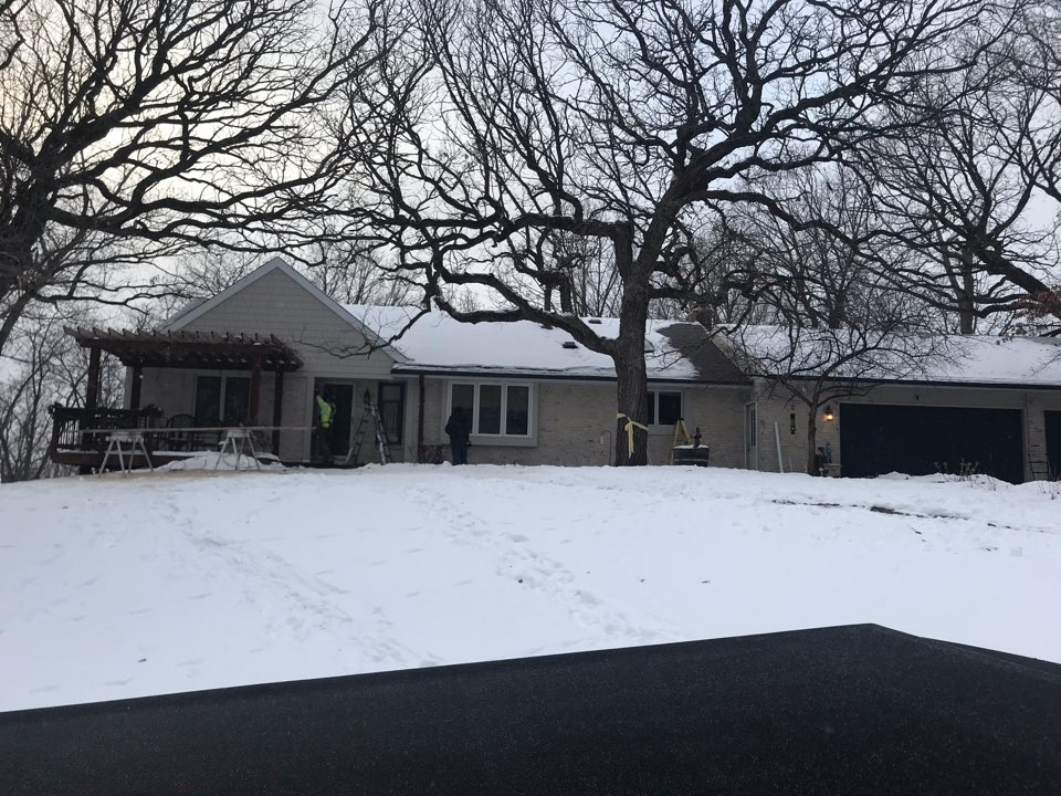 Eagan, MN - Exterior remodel with James Hardie shakes and lap siding.