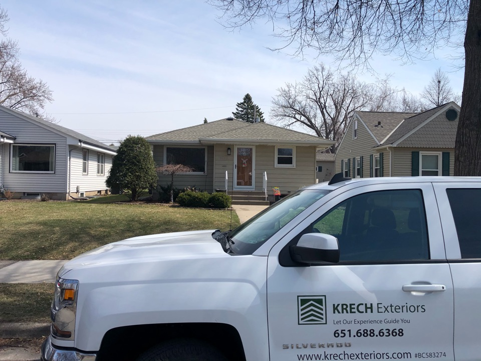 Minneapolis, MN - On this house we installed new roof. We used GAF Timberline HDZ shingles in the color Weathered Wood. This roof looks great!!