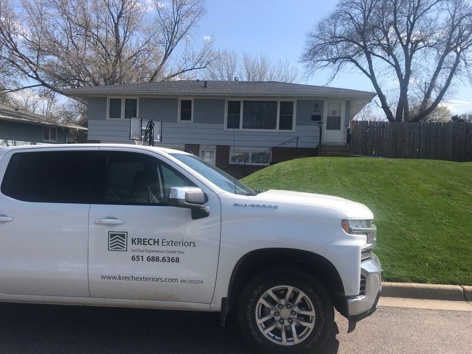 Inver Grove Heights, MN - Storm damage repair new GAF asphalt shingles roof