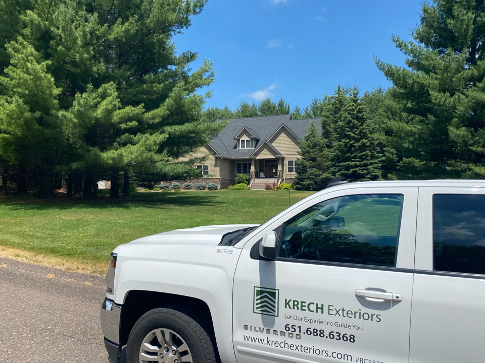 Stillwater, MN - Installed GAF Timberline HDZ Architectural Asphalt Shingle in the color Charcoal. All roofing material including underlayment material such as Tar Paper and Ice & Water was installed per GAF regulations/specifications. All metal flashing material such as Roof Vents, W Valleys, Pipe Stacks, Dormers, and Step Tins were installed in the color Black to coincide with the color of the shingle. Great looking new roof!
