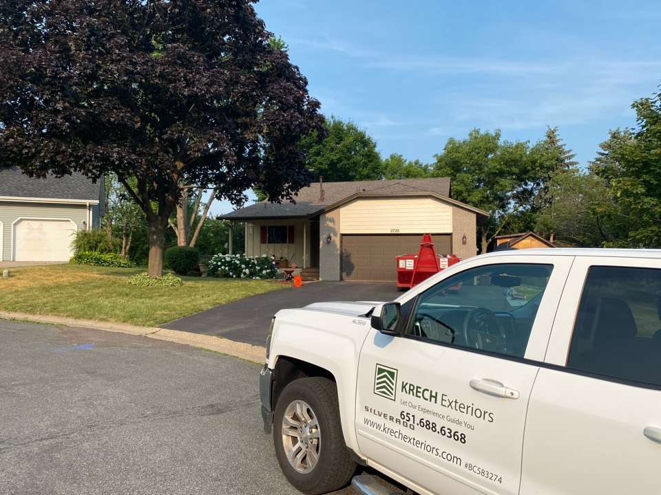Inver Grove Heights, MN - Installed GAF Timberline HDZ Architectural Asphalt Shingle in the color Mission Brown. All roofing material including underlayment material such as Tar Paper and Ice & Water was installed per GAF regulations/specifications. All metal flashing material such as Roof Vents, W Valleys, Pipe Stacks, Dormers, and Step Tins were installed in the color Brown to coincide with the color of the shingle. Great looking new roof!