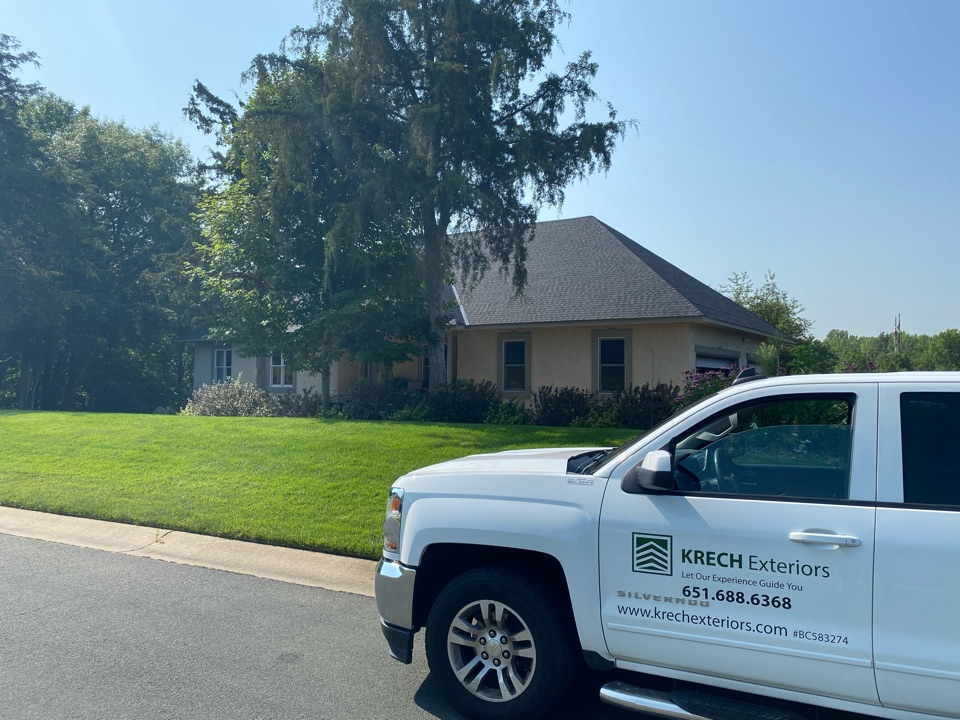 Inver Grove Heights, MN - Installed GAF Timberline HDZ Architectural Asphalt Shingle in the color Charcoal. All roofing material including underlayment material such as Tar Paper and Ice & Water was installed per GAF regulations/specifications. All metal flashing material such as Roof Vents, W Valleys, Pipe Stacks, Dormers, and Step Tins were installed in the color Black to coincide with the color of the shingle. Great looking new roof!
