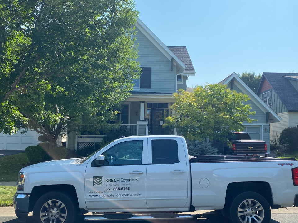 Apple Valley, MN - Installed GAF Timberline HDZ Architectural Asphalt Shingle in the color Weathered Wood. All roofing material including underlayment material such as Tar Paper and Ice & Water was installed per GAF regulations/specifications. All metal flashing material such as Roof Vents, W Valleys, Pipe Stacks, Dormers, and Step Tins were installed in the color Black to coincide with the color of the shingle. Great looking new roof!