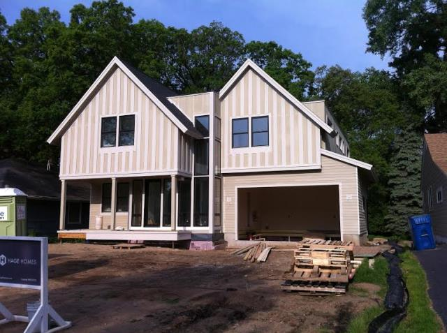 New Brighton, MN - Installing James Hardie Siding on a new home in New Brighten.