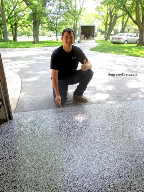 Fort Wayne, IN - Our garage epoxy flooring finishes can transform your garage from an ugly, dirty place into a beautiful extension of your home! It doesn't matter how bad the condition of your floor is (we've got solutions for even the worst concrete problems).