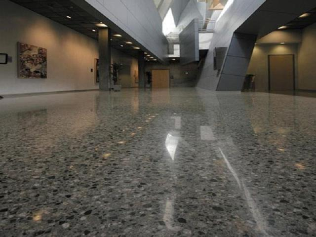 Angola, IN - Polished Concrete saves you money by using existing concrete, and its lower maintenance costs. Polished concrete floors are not as vulnerable to damage as other materials and do not need replacing.