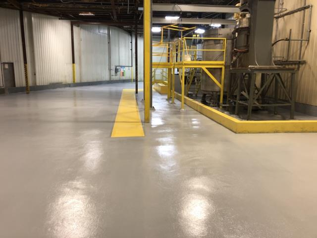 Warsaw, IN - Our Resinous 123 Epoxy flooring is great for Residential, Commercial and Industrial flooring applications. The luster and strength produced with this popular Epoxy system will amaze everyone that enters your business or home.