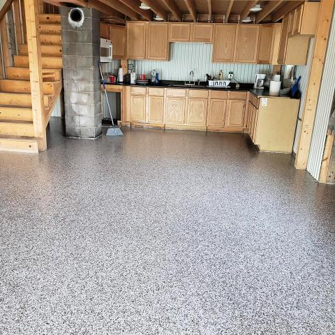 Warsaw, IN - Graniflex™ can be applied to any concrete surface and is an excellent choice for epoxy garage floors, driveways, patios, basements, and more.