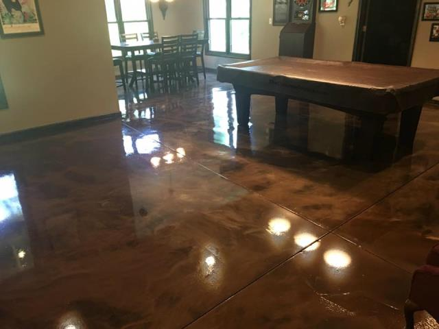 Angola, IN - Imagine your entertainment room with a floor that is not only durable but decorative too!! Metallic Marble provides an astonishing look that will leave a smile on your face every time you see it! Customizable and hand-crafted just for you!!