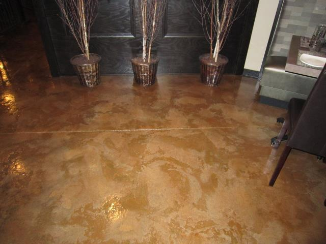 Van Wert, OH - Have you been wanting to improve your living room floor? The Acid Stain system is perfect in creating a unique look for any room! Choose a color and lets get started!!