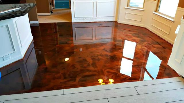 Huntertown, IN - Transform your kitchen area with a combo like never before! Metallic Marble surrounded by Rustic Wood creates a show stopping floor! Choose the color and system you want and we will create the masterpiece for you!!