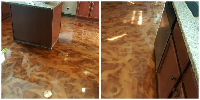 Van Wert, OH - Transform your kitchen with a unique floor that will spice the room up!! Add the heat with Metallic Marble today! Give us a call to start cooking up your remodel for the new year!!