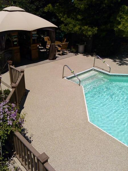 Warsaw, IN - We had our pool deck resurfaced by SupremeCrete last year, and it still looks amazing. We were surprised after the weather conditions this past year that the coating might not hold up. Thankfully it did, and it looks as if we just had it installed yesterday! If you are looking to remodel or repair your concrete surfaces, I would highly recommend Kevin and his crew!!