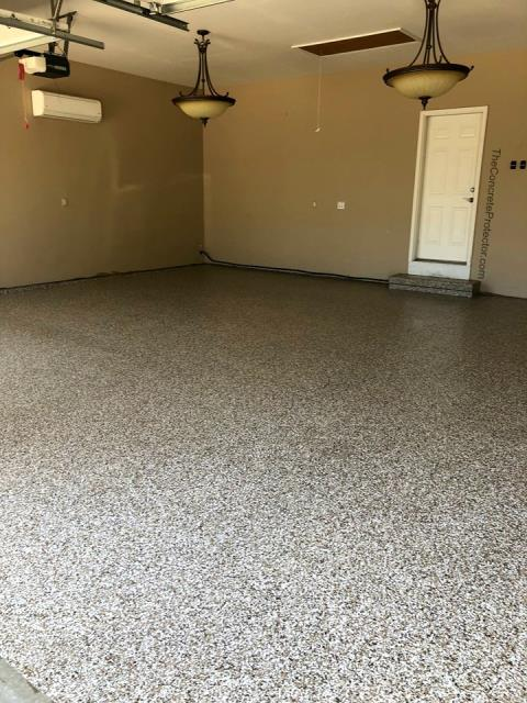 Perfect grage floor in every way! Graniflex flakes makes it look and feel absolutely fantastic! The first step towards a garage remodel and it is starting off great! Supremecrete does quality work for a fair price! Give them a call, you'll be completely satisfied with their work!
