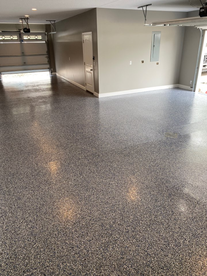 Columbia City, IN - Finishing up another BEAUTIFUL Epoxy Floor on Loon Lake! Near Columbia City Indiana