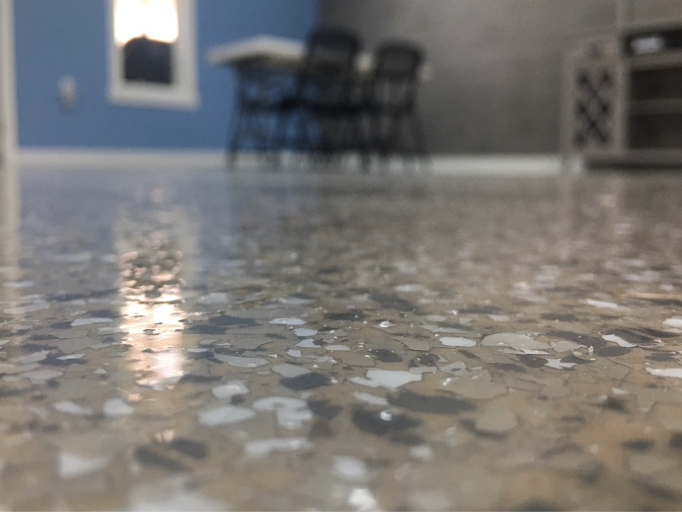 Fort Wayne, IN - The team has worked on this epoxy garage floor. Near Fort Wayne Indiana.