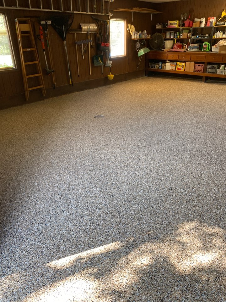 New Haven, IN - A great decorative concrete floor.