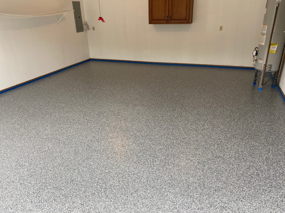 Fort Wayne, IN - A great decorative concrete floor.
