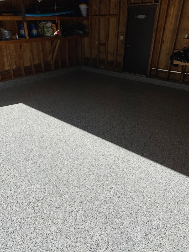 Fort Wayne, IN - Finishing up this beautiful Epoxy Flake floor today!!!