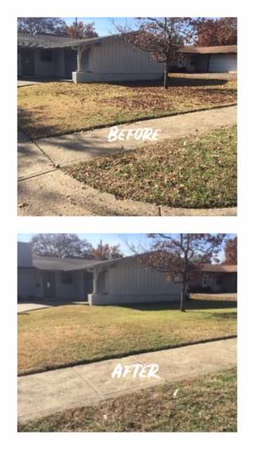 Leaf removal and yard clean up near Wal Mart Super store in Crest view area. Estimate to trim the hedges in the front yard.