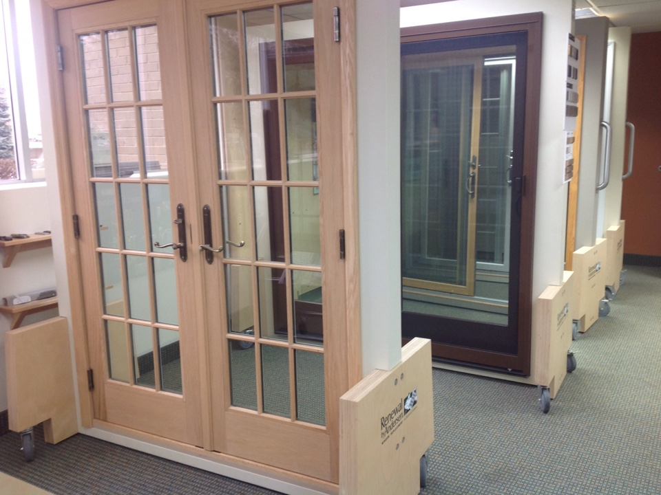 Livonia, MI - Here are some of the patio doors at our showroom in Livonia
