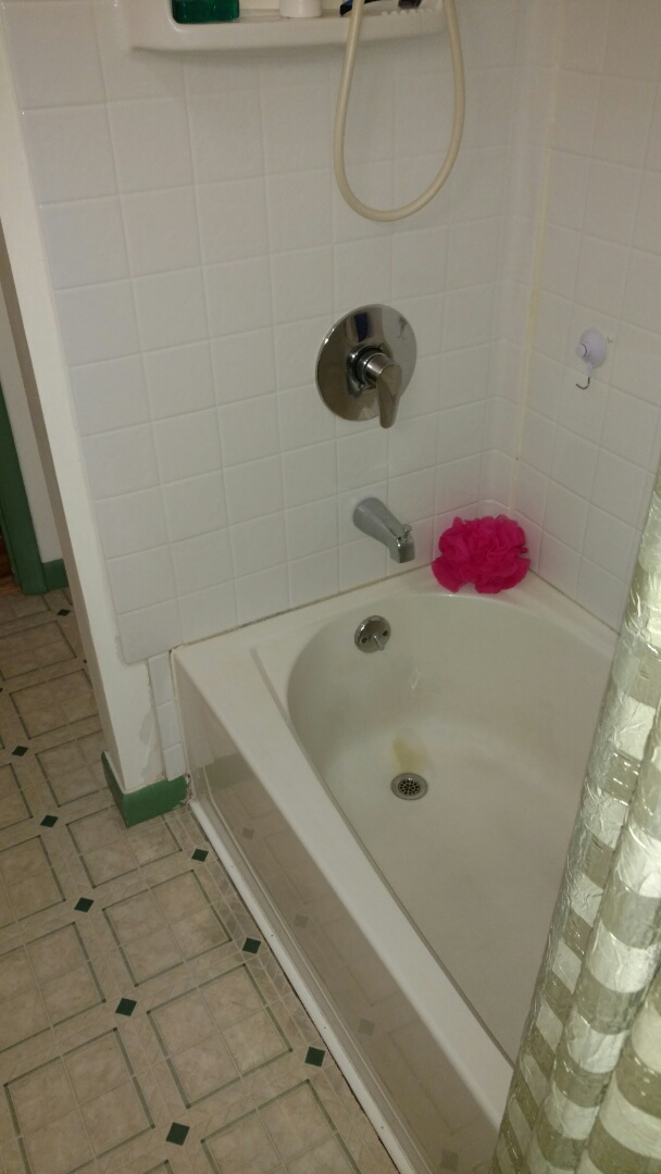 Felton, PA - Doing a full bathroom remodel here , replacing does fiberglass tub with a beautiful new Re-Bath system.