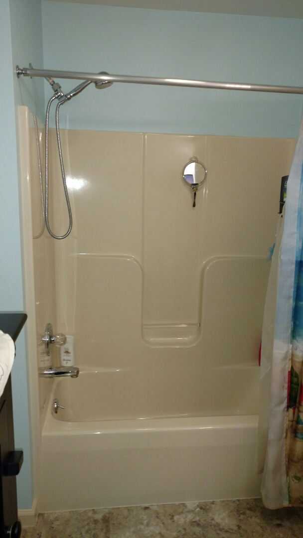 Denver, PA - We will be replacing this fiberglass one piece tub with a beautiful new Re-Bath system.