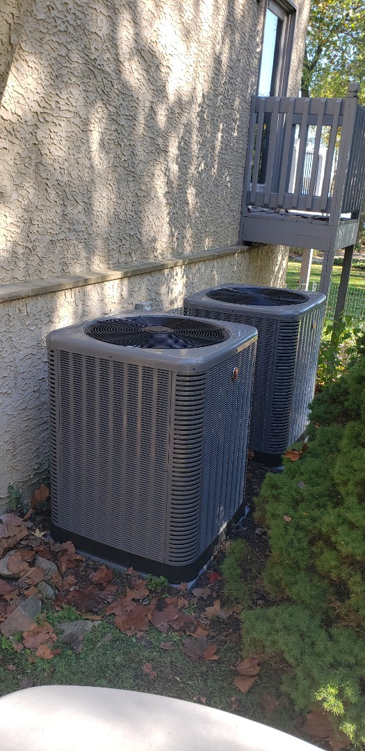 Perryville, MD - Installed two new Rheem gas furnace and air conditioning systems.