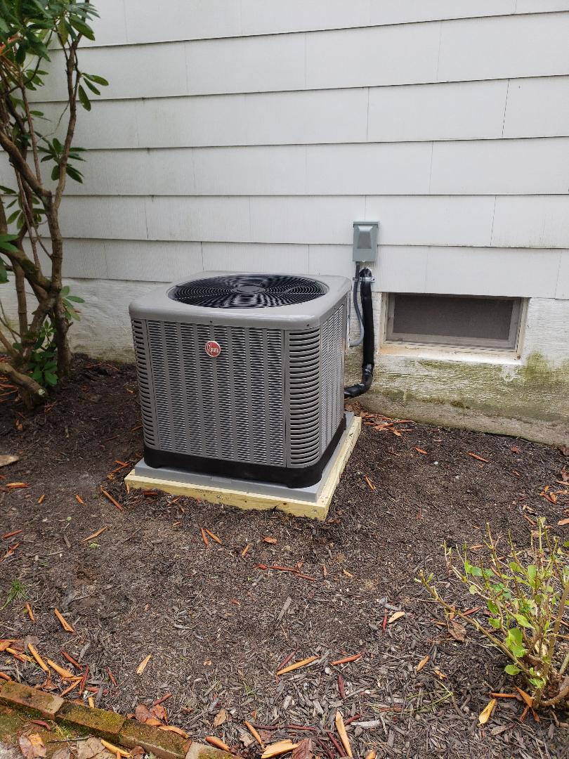 Forest Hill, MD - Installed new Rheem gas furnace and air conditioning unit